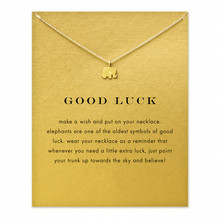 Hot Sale Sparkling good lucky elephant Pendant necklace gold plated Clavicle Chains Statement Necklace Women Jewelry(Has  card)(China (Mainland))