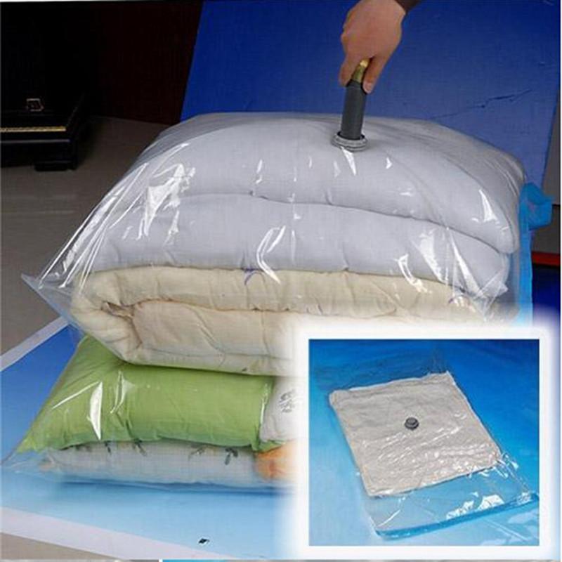 Hot Space Saver Saving Storage Box Transparent Border Foldable Extra Large Vacuum Seal Compressed Organizer storage Bags basket(China (Mainland))