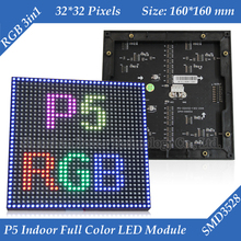 160*160mm 32*32pixels 1/16 Scan Indoor SMD3528 3in1 RGB full color P5 LED module for indoor LED display screen(China (Mainland))
