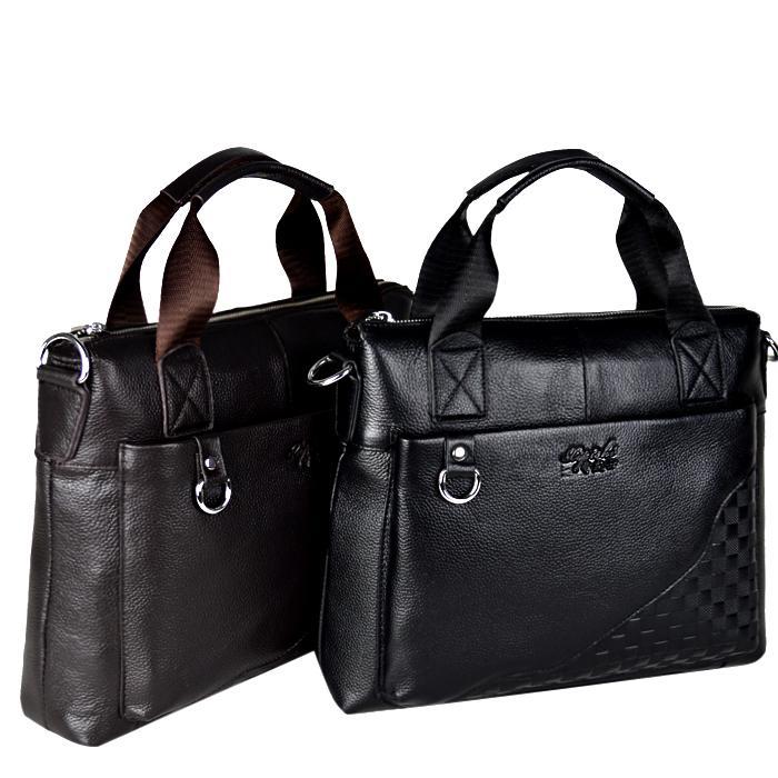 Здесь можно купить  Vintage Cowhide Leather Men Briefcase Genuine Leather Bag Men Business Handbag Shoulder Bags For Men Laptop Bag  Камера и Сумки