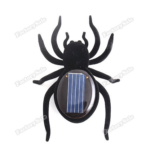 factorysale Educational Solar Powered Black Spider Toy Gadget Kids wholesale(China (Mainland))