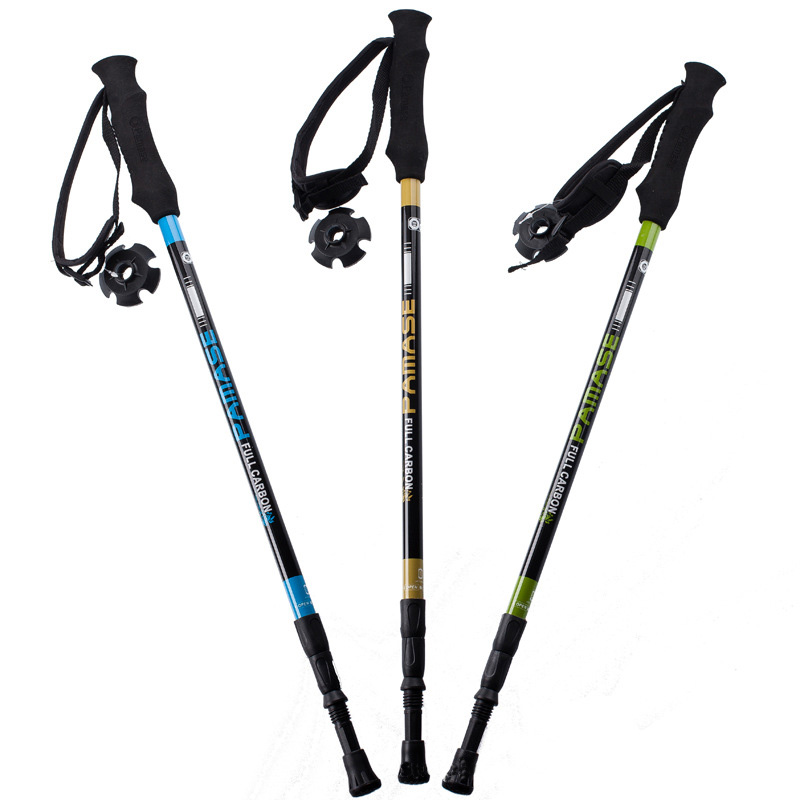 165g/pc carbon fiber walking stick hike telescope stick nordic walking stick for nordic walking poles trekking poles cane
