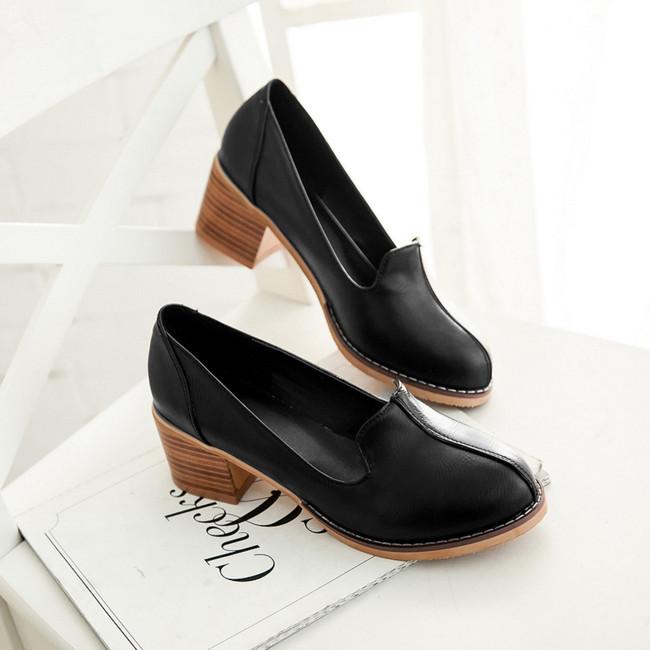 New 2015 autumn spring shoes thick high heel platform shoes woman pumps zapatos mujer sapatos femininos salto alto size 34-43