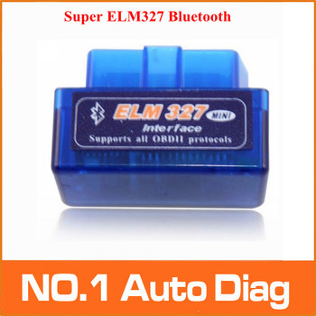 Free Shipping Latest Version V2.1 Super Mini ELM327 Bluetooth OBD2 Scanner ELM 327 For Multi-brand CANBUS Support All OBD2 Model