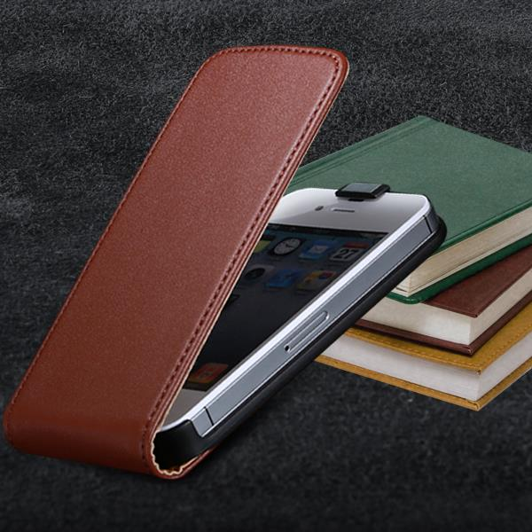 Luxury Flip Real Leather Phone Case For Apple iphone 5 5S 5G Vertical Magnetic Chip Phone Bag Sleeve Cover For iphone 5S Retail(China (Mainland))