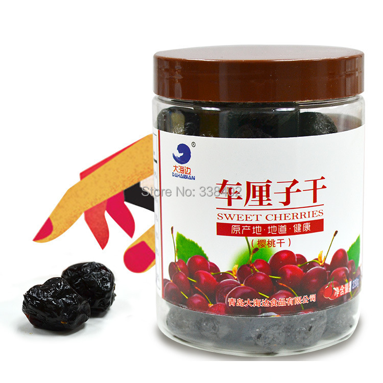 Freeshopping 230g cans Cherries Red Cherries preserved cherries Shandong Cherry specialty fruit snack foods Dried Fruit