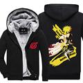 New winter coats NARUTO hoodie jackets light Anime Hooded Zipper men thick cardigan Uchiha Madara Minato