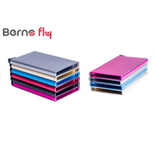 2016 New Thin Metal Rfid Card Protector Slim aluminum Credit Card holder Wallet Case 5 Cards Slide Out Gradually(China (Mainland))