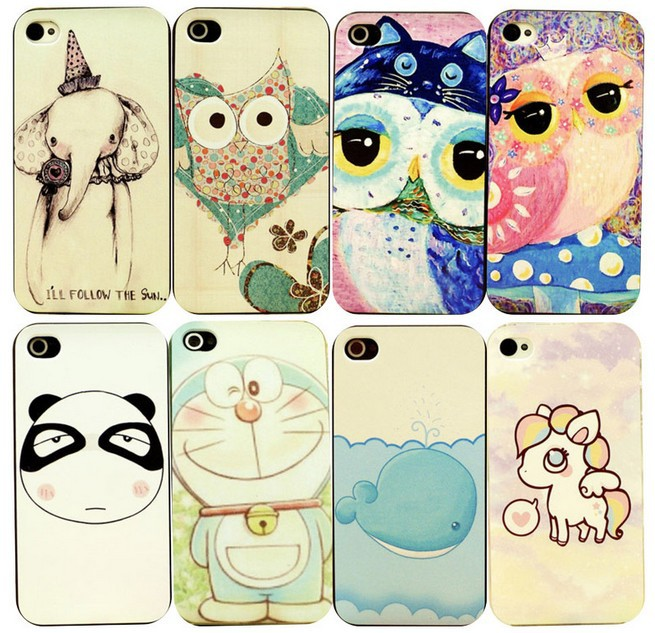 New fashion Styles Ink Coloured Pattern For apple iPhone 4S/4 Back Skin Cover Cell Phone Protect ShockProof Bag free shipping(China (Mainland))