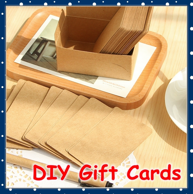 [FORREST SHOP] Vintage Greeting Card Set / Mini Gift Cards / Paper Bookmark / Message Post It Notes (200 Pieces/Lot) UP-8481(China (Mainland))