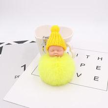 30 pçs/lote Favores Do Partido Bonito do Sono Do Bebê Macio Bolas Chaveiros Personalizados Presente Festival Suprimentos Para Lembrança Do Casamento(China)