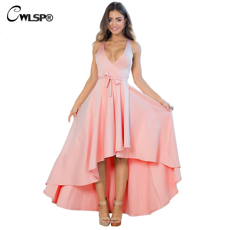 Hot Sale Sexy Women Pink Maxi Dress 2016 Summer Floor Length Deep V-Neck Sashes Vestidos Empire Dovetail Long Dress QL2519(China (Mainland))