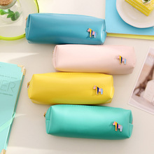 Buy 1pcs Kawaii Pu Leather Horse Pencil Case School Supplies Stationery Gift Students Cute Candy Color Storage Pencilcase for $1.40 in AliExpress store