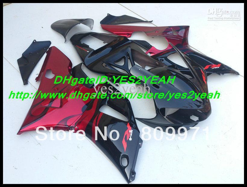 HOT!!1 ABS Red Black Fairing for YAMAHA YZF R1 00 01 YZF-R1 2000-2001 YZF1000 R1 YZFR1 00 01 2000 2001 bdy kit(China (Mainland))