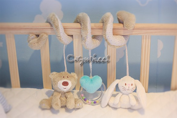 2015 new infant toys baby crib revolves around the bed stroller playing toys car lathe hanging baby rattles mobile 50(China (Mainland))