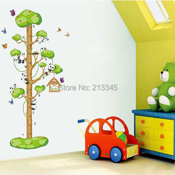 Wall Sticker Cartoon Panda Tree Stickers Decals Boys Bedroom Children