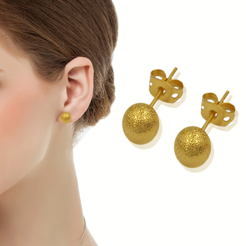 Vintage Gothic Stud Earrings Wholesale Jewelry Gold Plated Ball Retro Ethnic Earrings Accessories For Women Girl New Year Gift(China (Mainland))