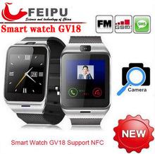 2015 Waterproof Aplus GV18 Smart watch phone GSM NFC Camera wrist Watch SIM card Smartwatch for Samsung Android Phone