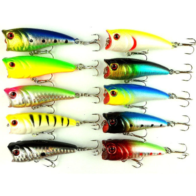 16CM 7G Popper Top water plastic popper fishing lures pike peche bass carp baits pesca tackles - Tong Cheng's store
