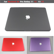 2015  Matte Hard  Case For Macbook Air 11 13 / Pro 13.3 15.4 Pro Retina 12 13.3 15.4 inch laptop case For Mac book Logo case