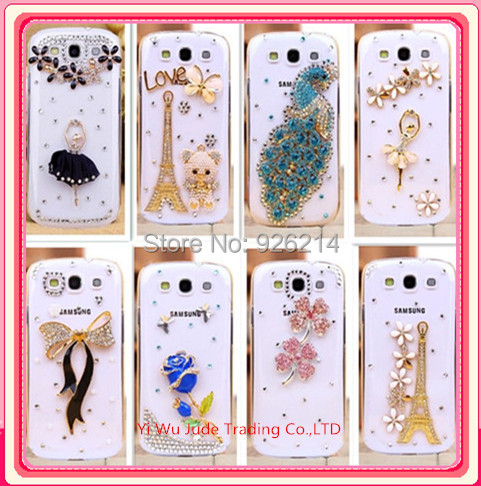 new 2015 luxury rhinestone mobile phone case cover For samsung Galaxy s3 i9300 case(China (Mainland))