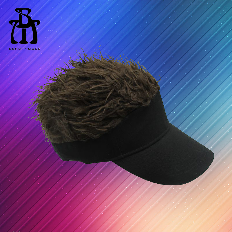Fashion Cap Hat with Wig Hair Golf Baseball Hats Toupee Fit All Adjustable Funny Hair Loss Cool Golf Caps Outdoor Party Gift(China (Mainland))