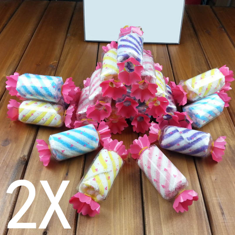 2pcs Cotton Scarf Candy Towel Wedding For Guests Wedding Favors Personalized Children Gifts On