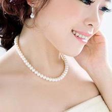 Mulheres jóias carvoeiros grande cadeia simulado colar de pérolas de noiva colar de jóias femininas presentes de casamento branco pérola colar