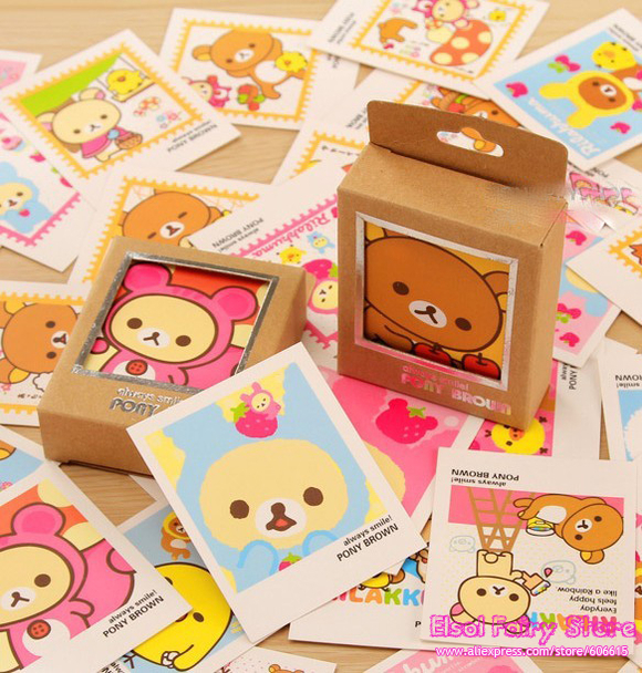 LOMO STYLE Lovely Bear Greeting Cards Collection Cartoon Printing cards Gift cards 40pcs/set 8sets/lot Free shipping<br><br>Aliexpress