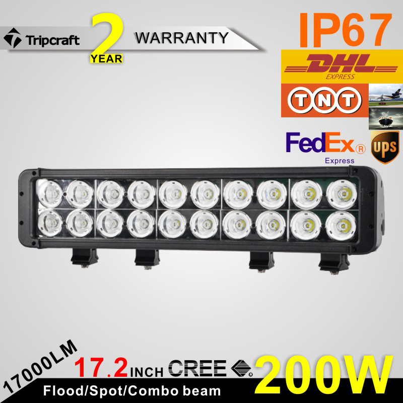 Factory direct sale 200w l luminaire lamp LED LIGHT BAR High power led driving lights Offroad led light bar(China (Mainland))