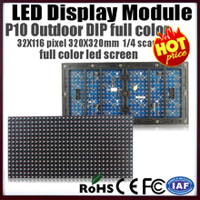 free shipping p10 outdoor led display module 32X16 dot matrix pixels 1/4 scan rgb full color led display panel for led videowall(China (Mainland))