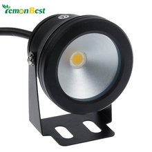 Led Underwater Light 10W 12v Cool White Warm White Waterproof IP68 Fountain Pool Lamp Black Cover Body For Outdoor(China (Mainland))
