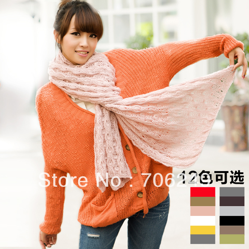 ,acrylic scarf, fashion ladies knitting scarf,mohair material,high quality,2012 new design,winter scarves - ELLEN FASHION ACCESSORIES store