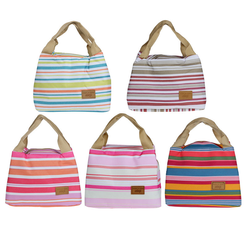 Forward Thermal Insulated Lunch Box Tote Cooler Canvas Zipper Bag Bento Lunch Pouch Hot Insulation bag(China (Mainland))