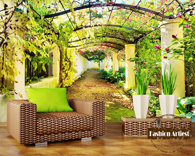 Garden wallpaper mural promotion shop for promotional for Axex shop galeria jardin