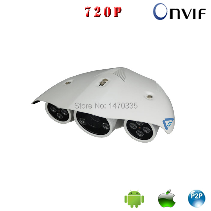 High Quality Project Application Waterproof IP66 IP Camera POE Option 1Megapixel 720P Outdoor Onvif Array IR Surveillance Camera(China (Mainland))