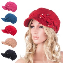 New A300 Womens Ladies Micro Suede Bucket Beanie Flat Visor Cap Fashion Top Hat(China (Mainland))