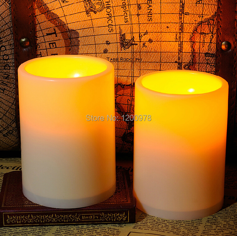 2x LED Electric Candle Timer Authentic Look 7.5x10cm Lamp Birthday Present Gift Home Bedroom Wedding Christmas Decoration - Tony Long's Store store