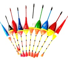 10pcs Fishing Floats Set Buoy Bobber Fishing Light Stick Floats Flutuador Mix Size Color For Fishing (China (Mainland))