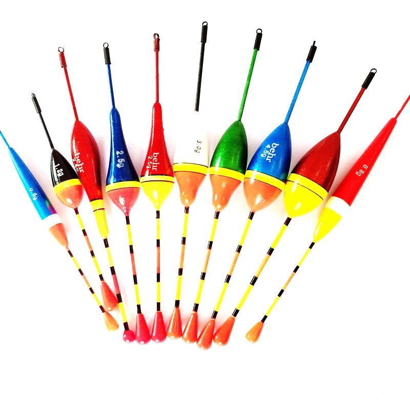 10pcs Fishing Floats Set Buoy Bobber Fishing Light Stick Floats Flutuador Mix Size Color For Fishing(China (Mainland))