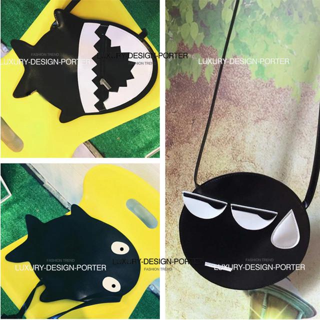 Новый весело дизайнер акула рисунок Corssbody мешок мультфильм личность сумка бесплатная доставка