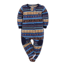 Free shipping long-sleeved new children's fine cashmere long sleeve romper boys pajamas