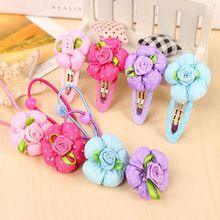 Buy 1 Pcs Hair Clip Cute Dot Flower Headwear Kids Candy Color BB hairpins Hair Accessories for $1.90 in AliExpress store