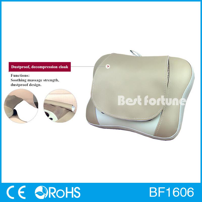 Free Shipping Dust Proof Cloak Neck Mini Smart Shiatsu Back Massage Cushion Neck Shoulder Massage Pillow(China (Mainland))