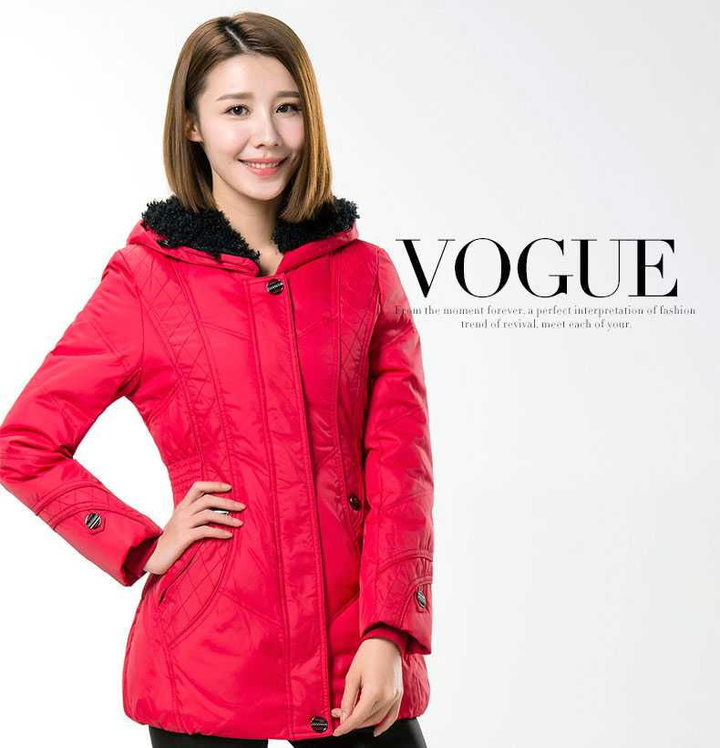 On Sale Winter Coat Women 2015 Fashion Ladies Lamb Wool Hooded Down Parkas Winter Wadded Jacket Women Slim Overcoat H5600(China (Mainland))