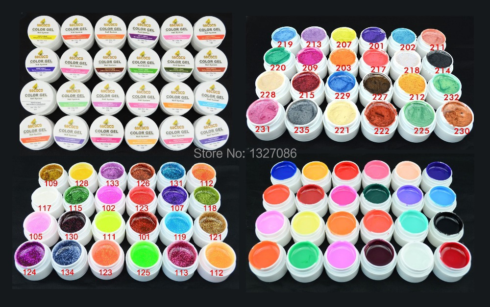 24 Glitter Colors UV Gel Nail Art Tips Shiny Cover French Manicure Tool GDCOCO - timtimng store