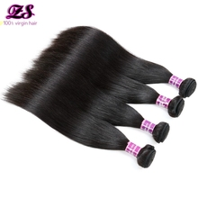 ZS Hair Products Indian Virgin Straight Hair weft 3pcs/ lot Grade 7A Human Hair Extensions Remy Weaves indian Hair Bundles