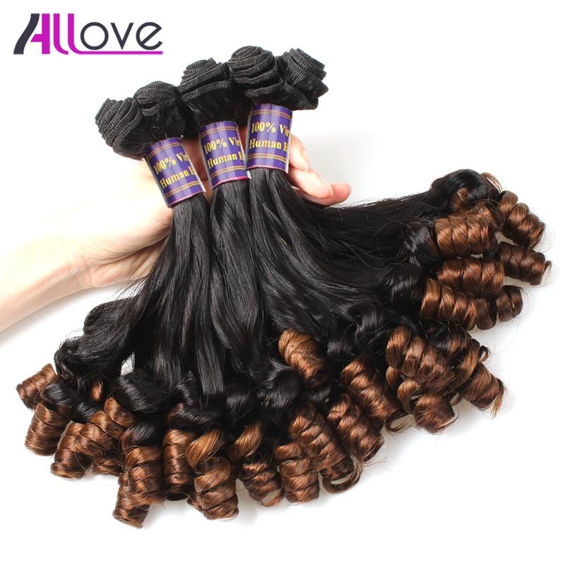 3 Bundles Brazilian Remy Human Hair Aunty Funmi Hair Romance Curls High Quality Allove Hair Nigeria Ombre Aunty Funmi Hair Weave