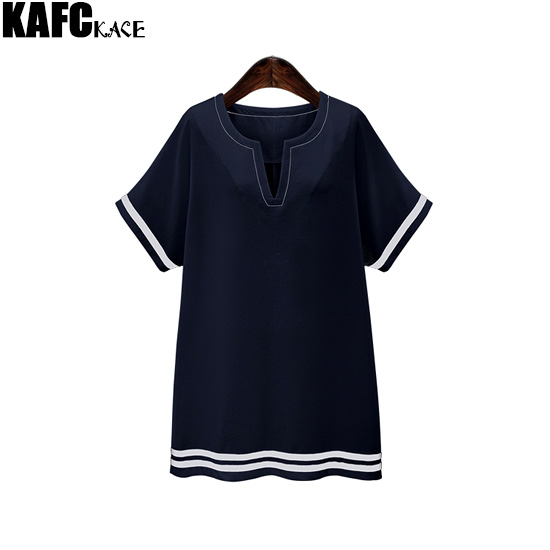 KAFAKACE New 2016 Summer Women Dress Shirt Mini Dresses Big Size Female Tunics Vestidos Clothes Cotton Linen Clothing Wear 5xl(China (Mainland))