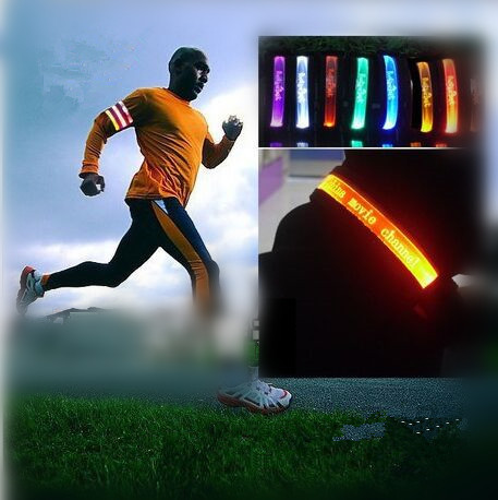 LED light sport arm band Luminous armband shoulder riding sports running foot arm band outdoor sports(China (Mainland))